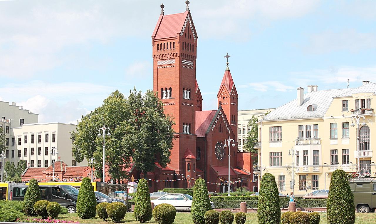 Typisch Europa wenn man durch Minsk spaziert und die zahlreichen Kirchen sieht