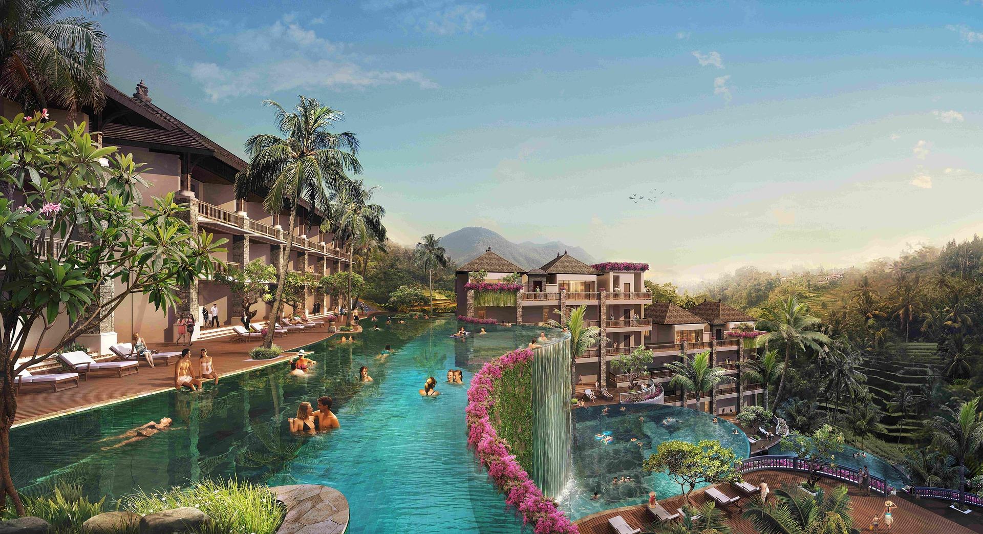 Ubud Bali es ist hier völlig normal das die Hotels so ausgefallen sind