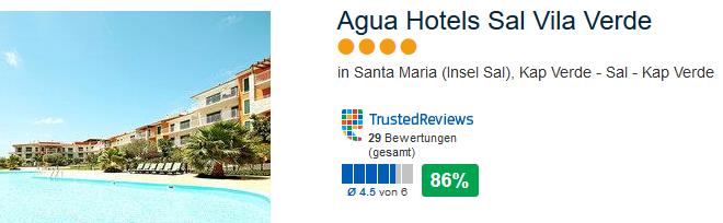 4 Sterne Unerkunft in Agua Hotels Sal Vila Verde