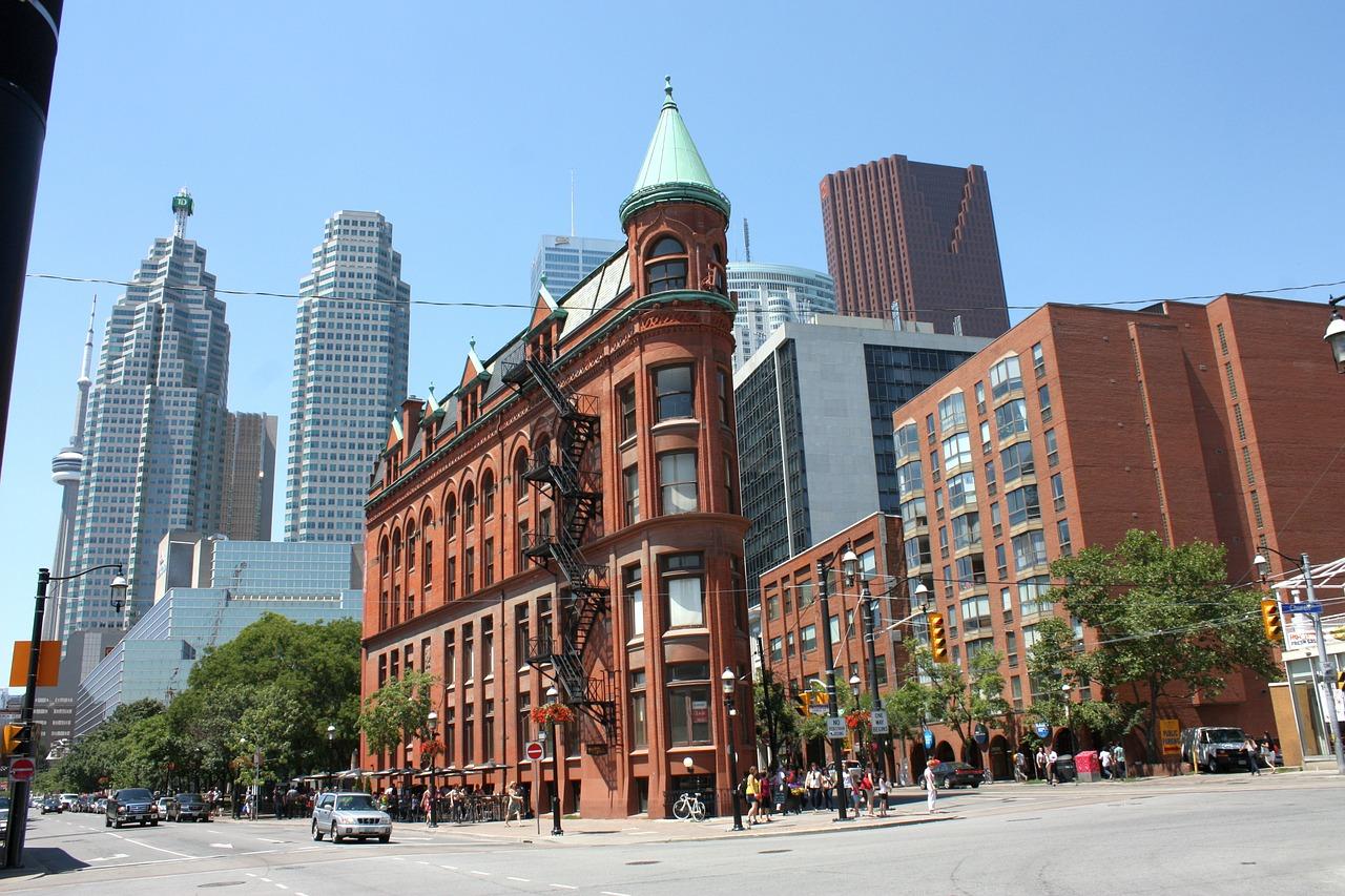 Das berühmte Gebäude in der City