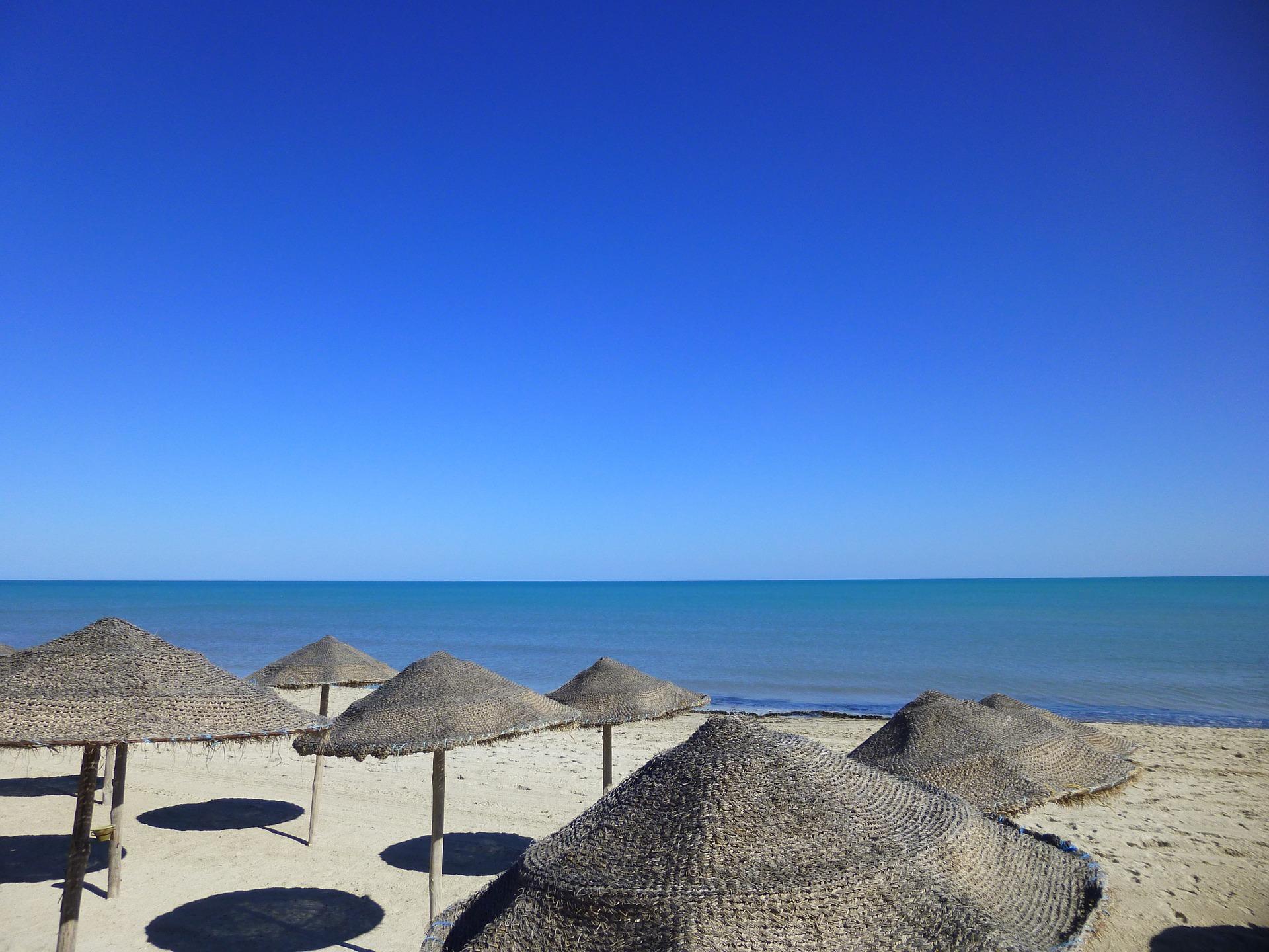 Der Strandabschnitt am preiswertesten Hotel