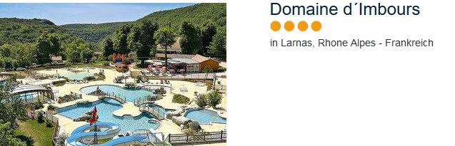 Domaine d'Imbours das 4 Sterne Familienpark in den Rhone Alpes