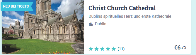 Entertainment in Dublin ab 6,75€ Irlands Hauptsadt Hotspots - Screenshot