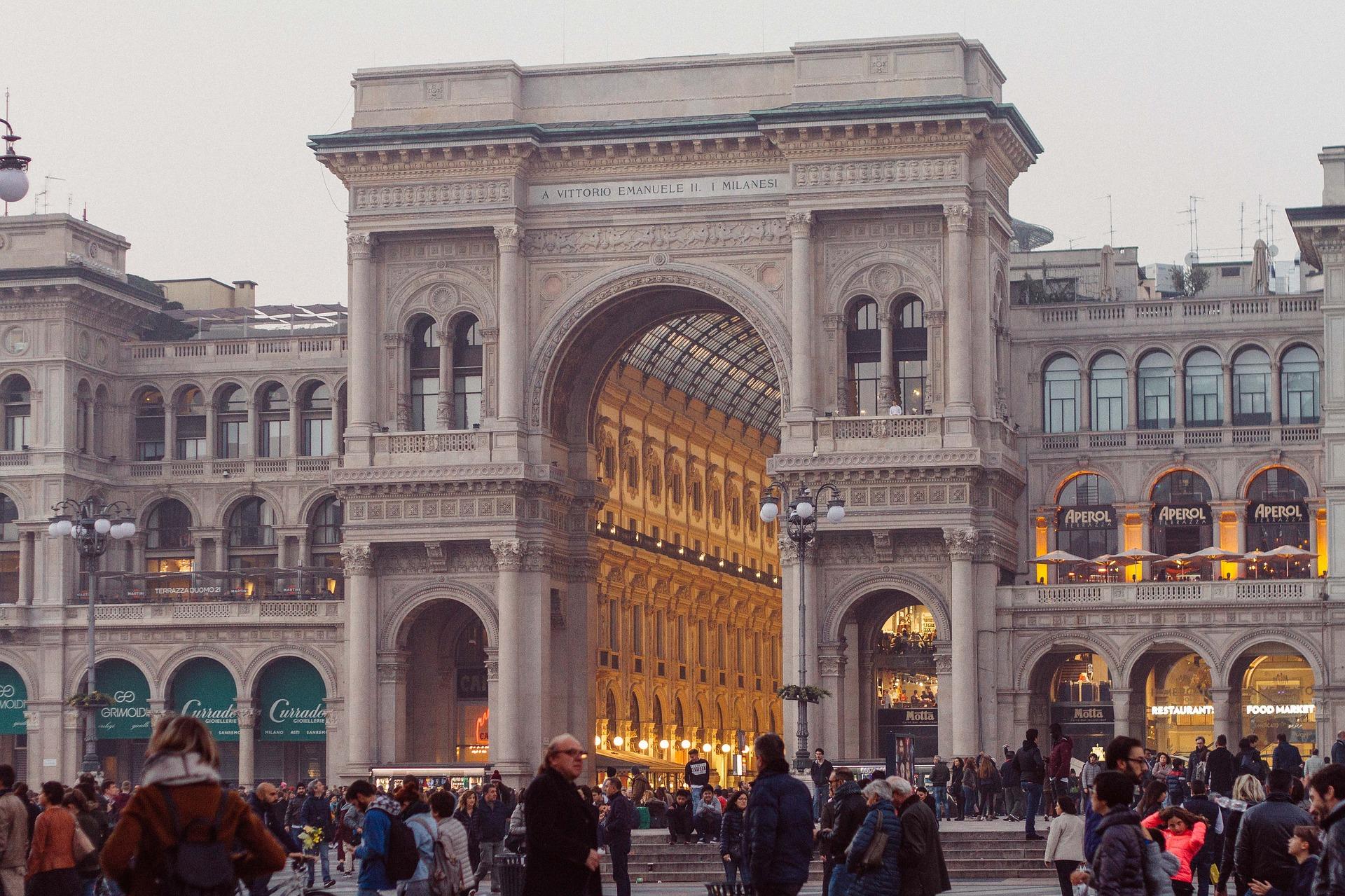 Galleria Vittorio Emanuele im Zentrum der Stadt