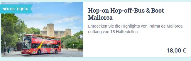 Hier Tickets für Attraktionen in Mallorca Spanien günstig einkaufen - Screenshot
