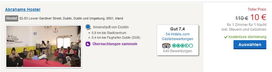 Hotels ab 10,00€ die Nacht Screenshot