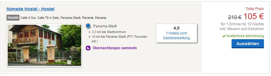 Hotels ab 105,00€ für 12 Nächte - Screenshot