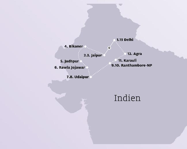 Indiens Reiseziele während der Rundreise