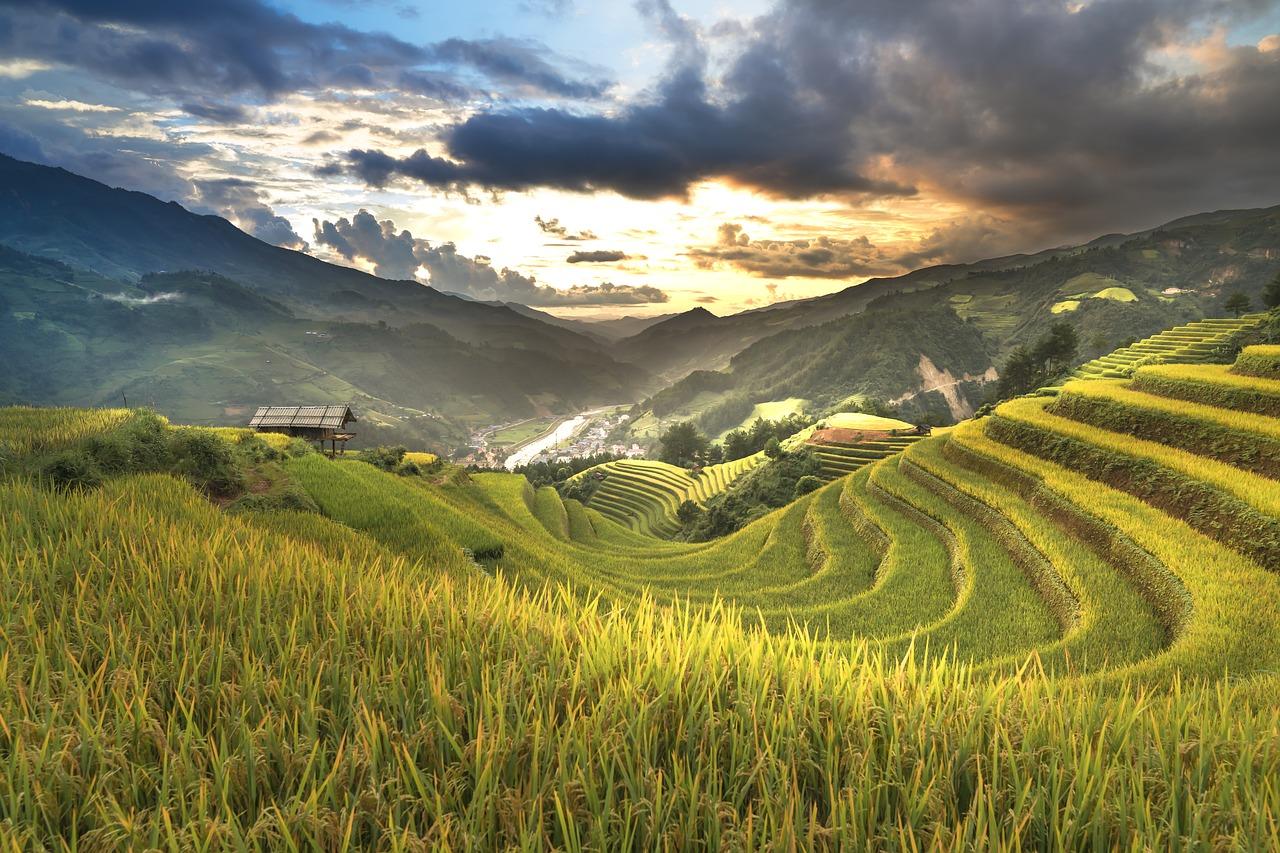 Landes innere von Vietnam