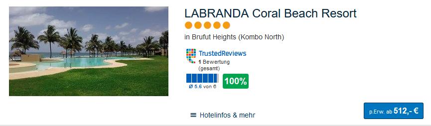 Meine Empfehlung das LABRANDA Coral Beach Resort