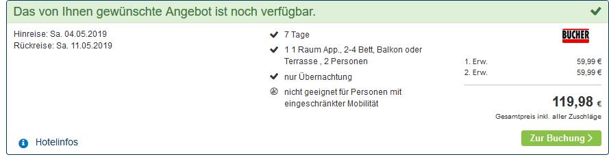 Screenshot Deal Appartements im Schindlhaus 1 Woche ab 59,99€ - Urlaub in Österreich