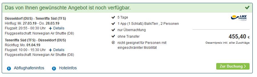 Screenshot Deal La Gomera Urlaub ab 260,00€ Pauschal auf die Kanaren