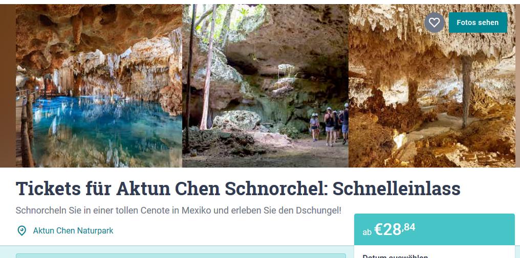 Screenshot Deal Unterwasserhöhle Tauchen in Mexikos Cenoten ab 28,84€ Unterwasser Höhle