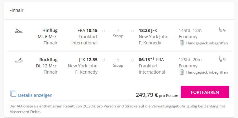 Screenshot Deal Urlaub in der Weltstadt New York ab 237,00€ - günstige Städtereisen