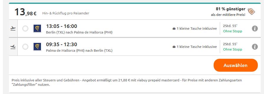 Screenshot Magaluf zum feiern über das Wochenende nach Mallorca ab 13,98€