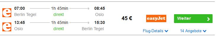 Screenshot Oslo Tipps für einen Tagestrip Hin & Rückflug ab 45€ Infos