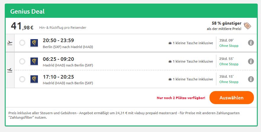 Screenshot Real Reisen - Wochenende in Madrid ab 41,98€ La Liga & Sightseeing