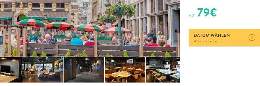 Screenshot Städtereise nach Brüssel im 4 Sterne Hotel by Marriott ab 79,00€