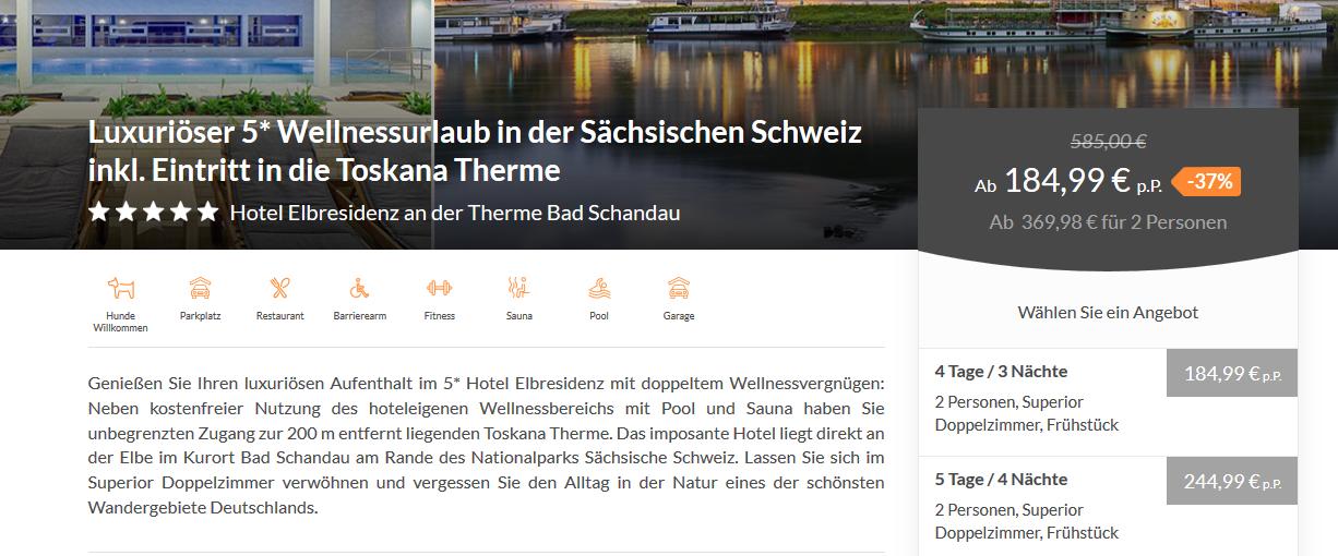 Screenshot Toskana Therme Bad Sulza ab 184,99€ 5 Sterne Wellnessurlaub