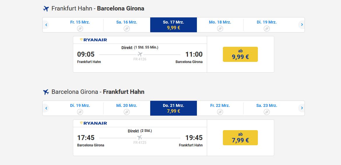 Screenshot Urlaub in Cadaques Hin- & Rückflug ab 17,98€