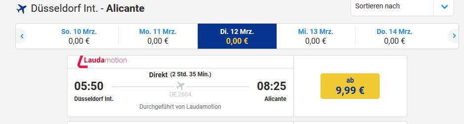 Screenshot Wärmster Ort im Winter in Europa Alicante ab 9,99€ bist du dabei
