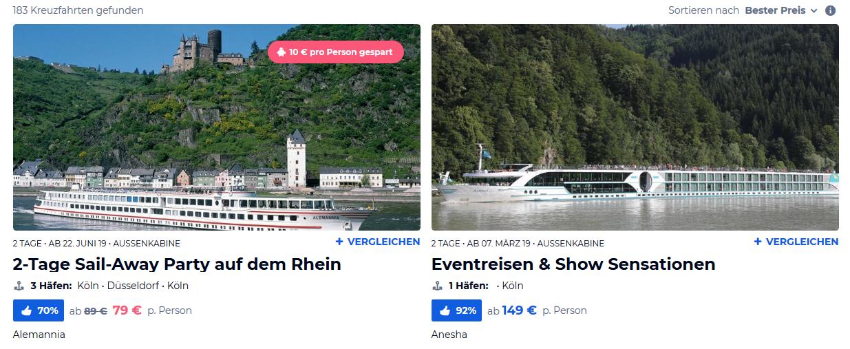 Screenshot ab 79,00€ Kreuzfahrt in Deutschland