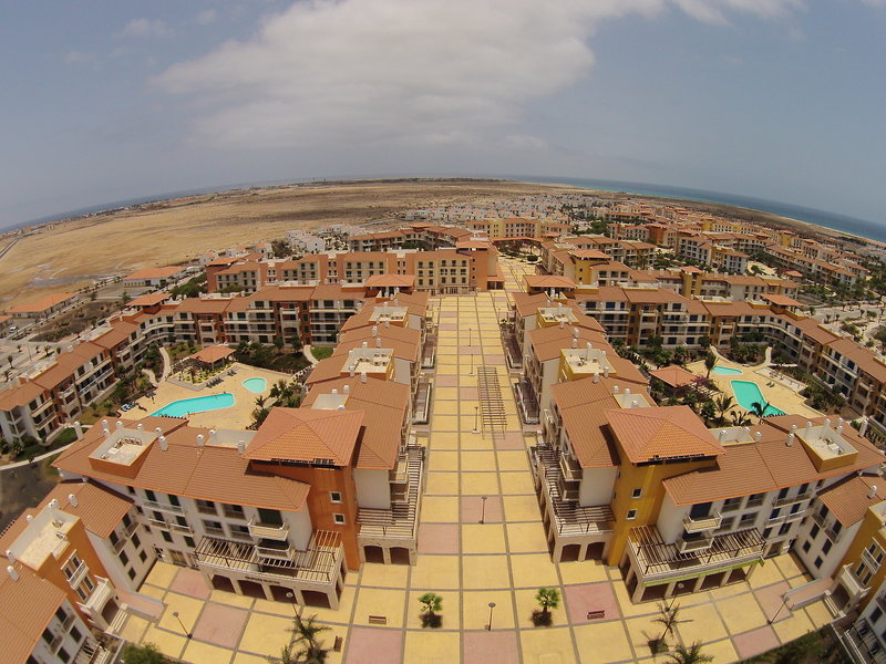 Übersicht der Ferienanlage von oben