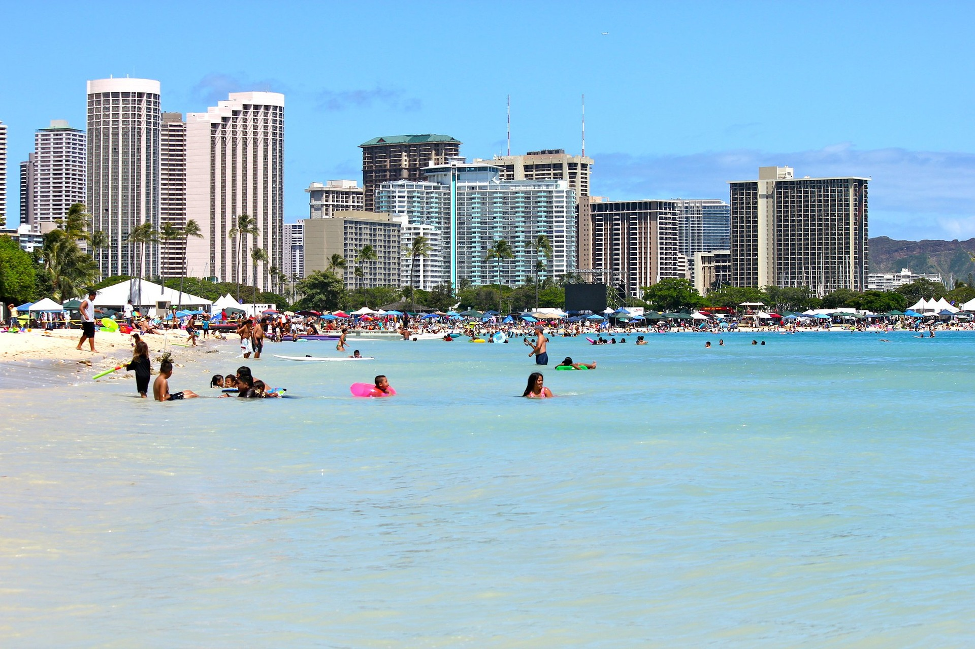 Waikiki Beach in Honolulu auf O'hau