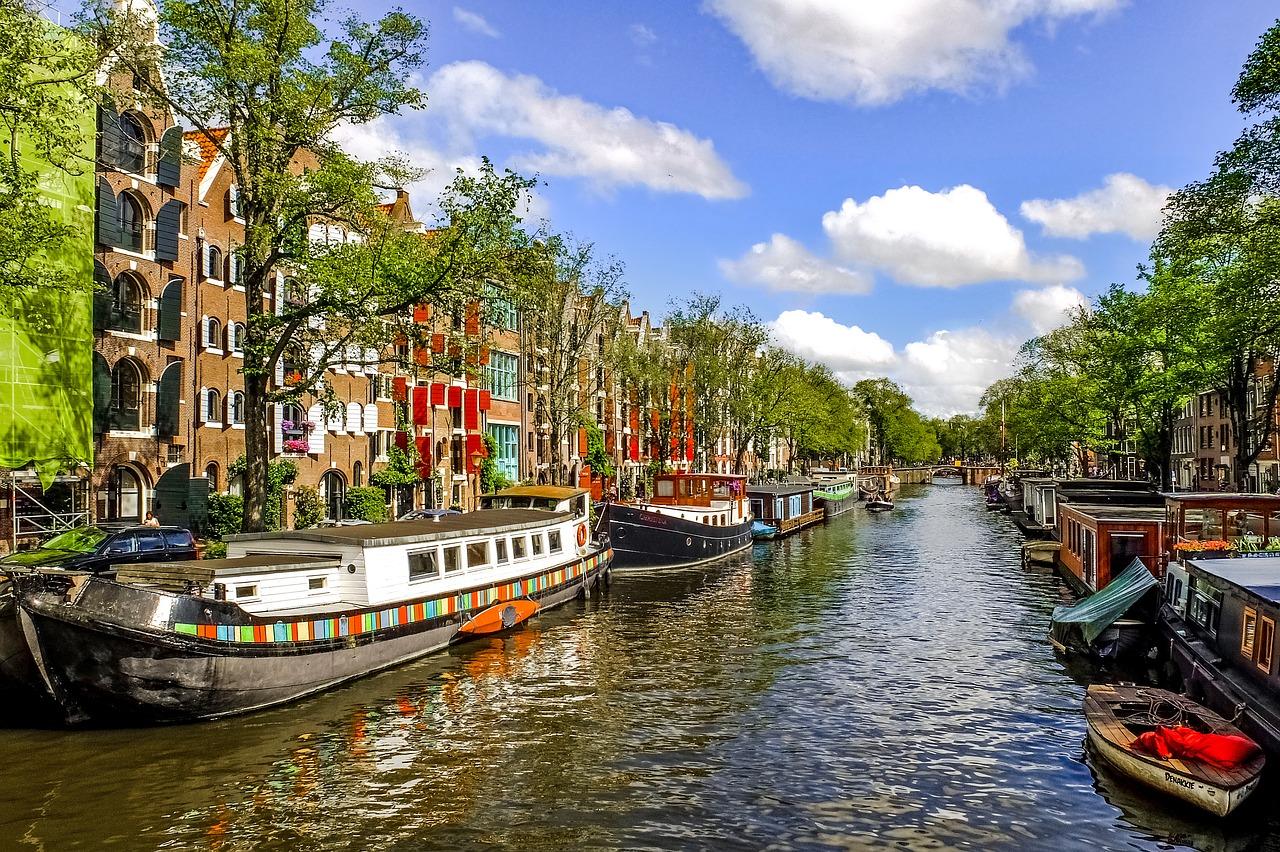 Wasserstraßen in der Haupstadt der Niederlande