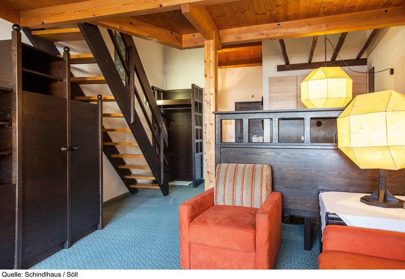 Wohnzimmer der Appartements im Schindlhaus