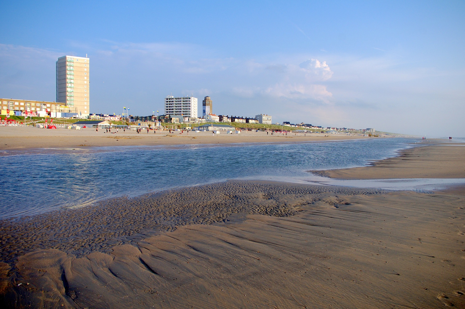 Zandvort die Küste an der Hauptstadt