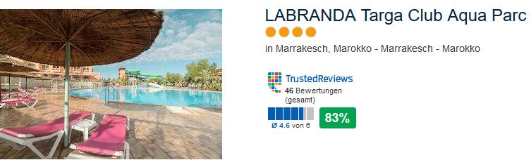 4 Sterne Hotel Marokko LABRANDA Targa Club Aqua Parc