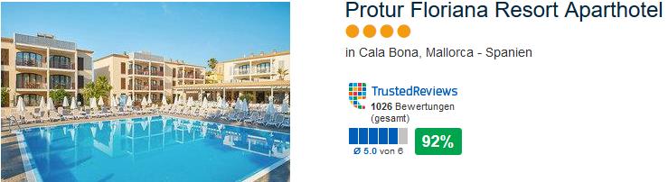 4 Sterne Hotel Protur Floriana Resort Aparthotel Cala Bona