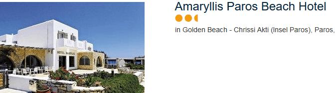 Amaryllis Paros Beach Hotel auf der Insel Passos am Golden Beach