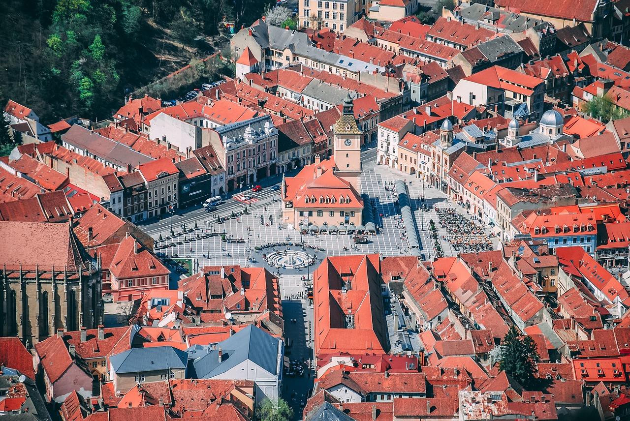 Brasov die Stadt wurde gegründet von den Rittern des Deutschen Ordens