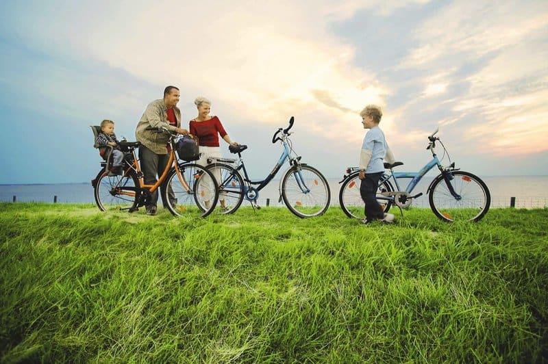 Das Friesland mit den Fahrrädern erkunden- Rad Verleih im Nordsee Park