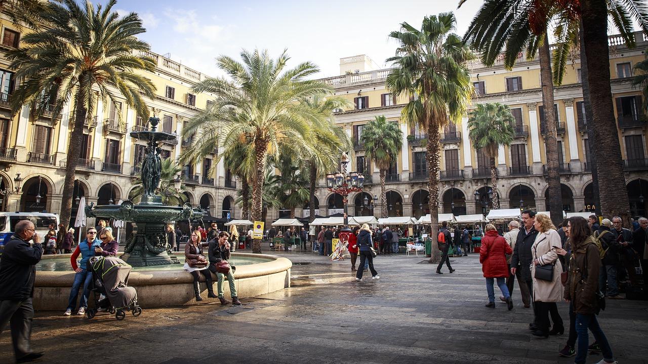 Der berühmteste Platz in Katalonien in der Hauptstadt Barcelona