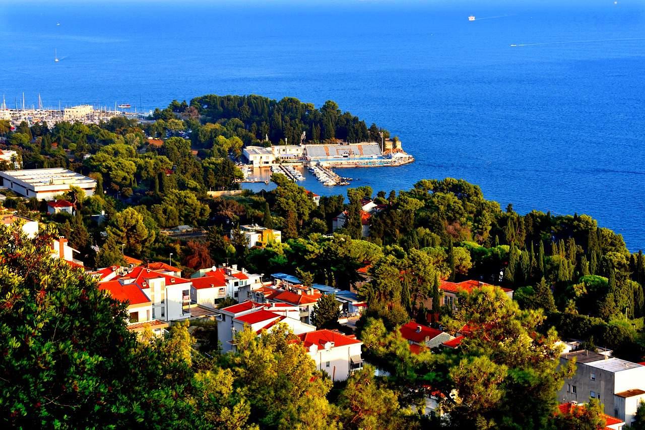 Die Stadt Split an der Adria