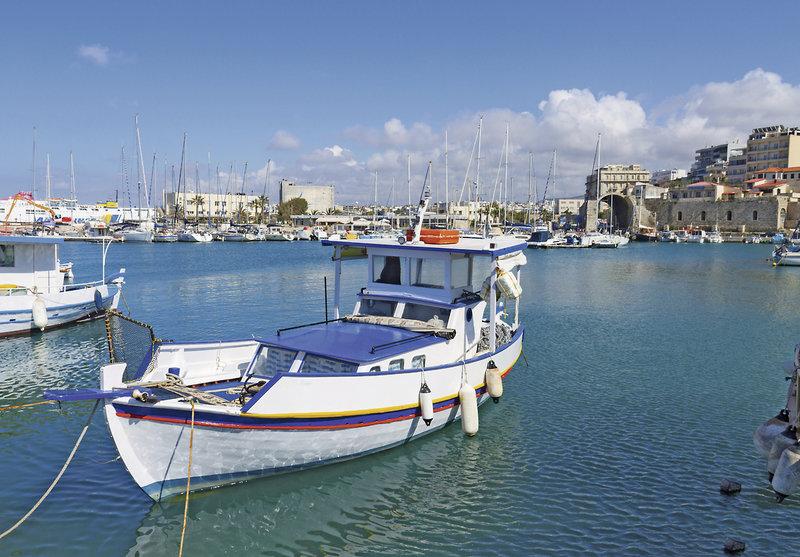 Direkt am Yachthafen von Malia liegt das gute drei Sterne Haus