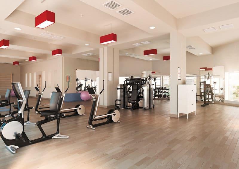 Fitnesstudio im Innenbereich