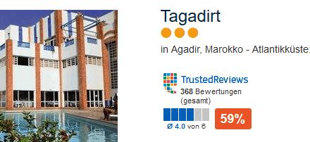 Günstiges Hotel in Agadir am Ende der Promenade