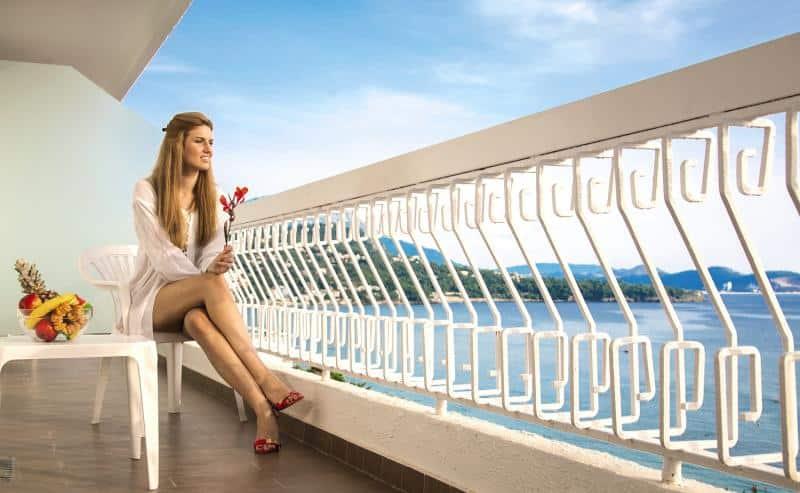 Ich empfehle hier ein Zimmer mit Balkon