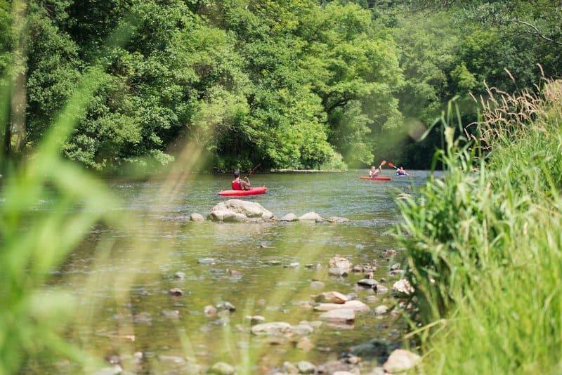 Kanu fahren in Ardennen am Ferienpark