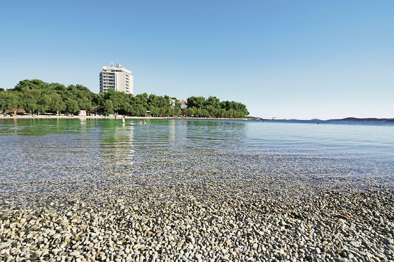 Kiesstrände sind in Kroatien Gang und Gebe