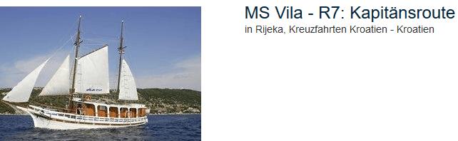 MS Vila die exklusive Kreuzfahrt auf der ADria