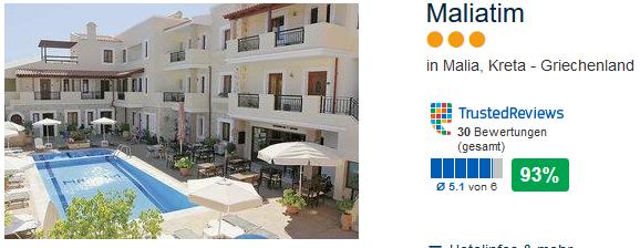 Maliatim 3 Sterne Hotel auf Kreta