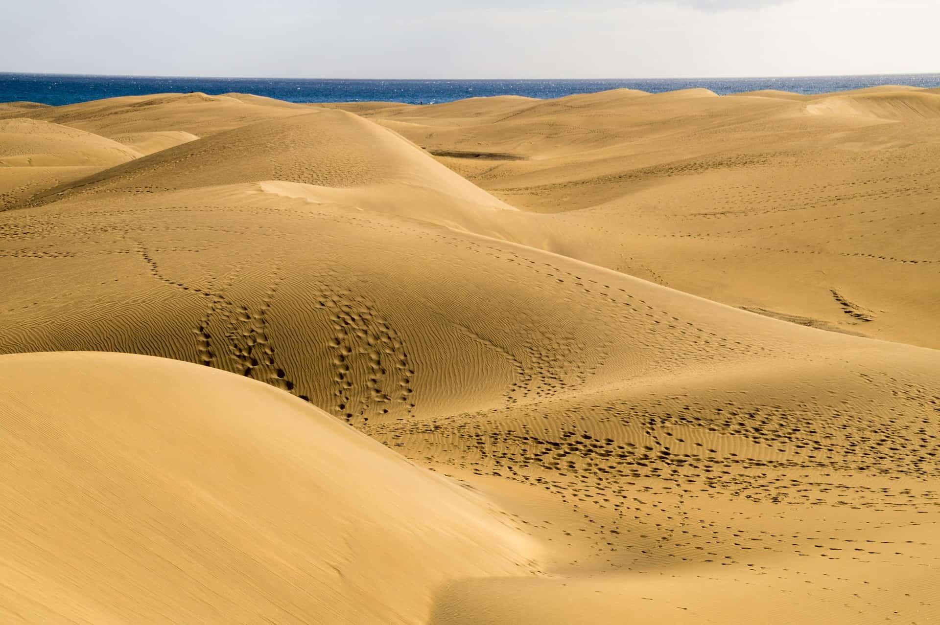 Maspalomas von der Wüstenlandschaft zum Sandstrand