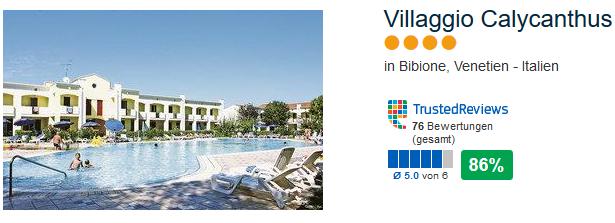 Meine Empfehlung Villaggio Calycanthus 4 Sterne