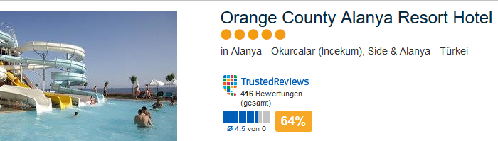 Orange County Alanya Resort Hotel 5 Sterne Urlaub