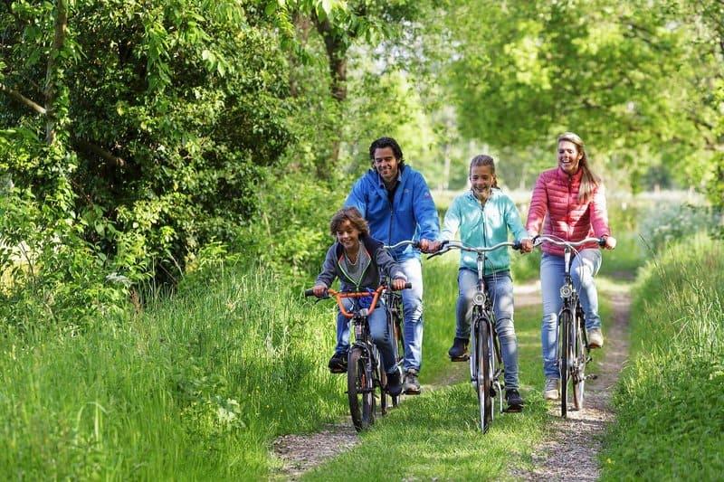 Radtouren mit der Familie bieten sich in den Parcs bestens an